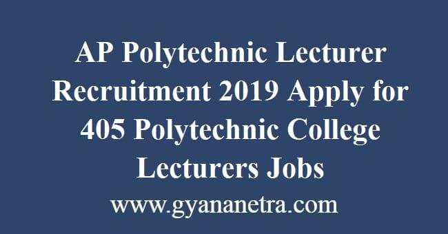AP Polytechnic Lecturer Recruitment