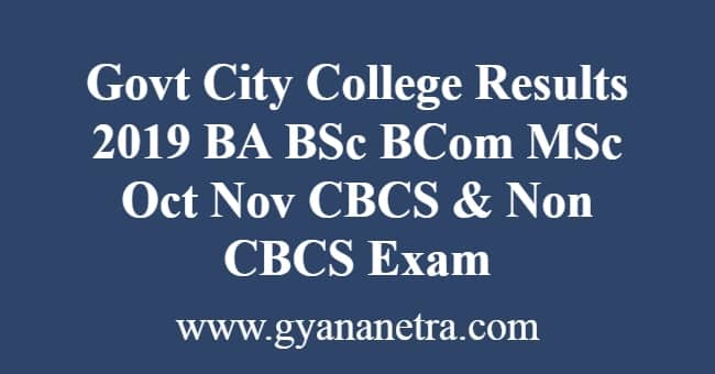 Govt City College Results
