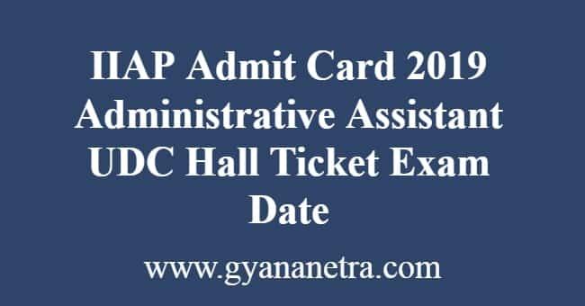 IIAP Admit Card