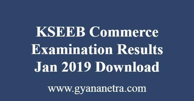 KSEEB Commerce Examination Results