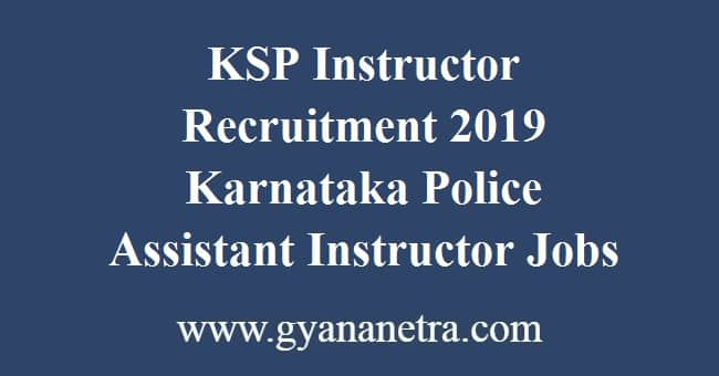 KSP Instructor Recruitment