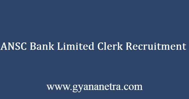 ANSC Bank Limited Recruitment 2019