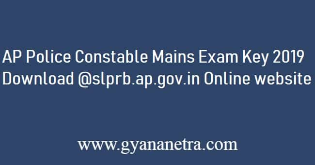 AP Police Constable Mains Answer Key 2019