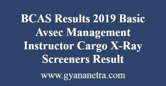 BCAS Results