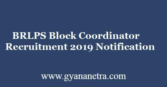 BRLPS Block Coordinator Recruitment 2019