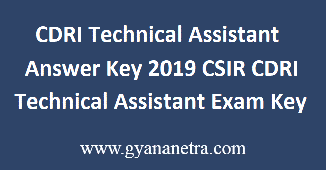 CDRI-Technical-Assistant-Answer-Key