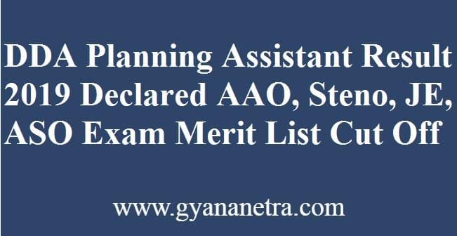 DDA Planning Assistant Result