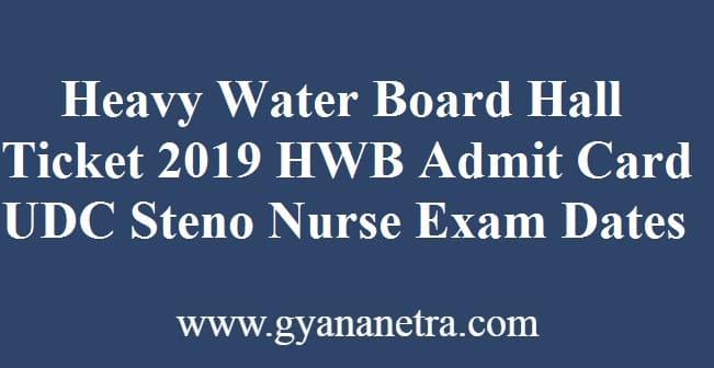Heavy Water Board Hall Ticket