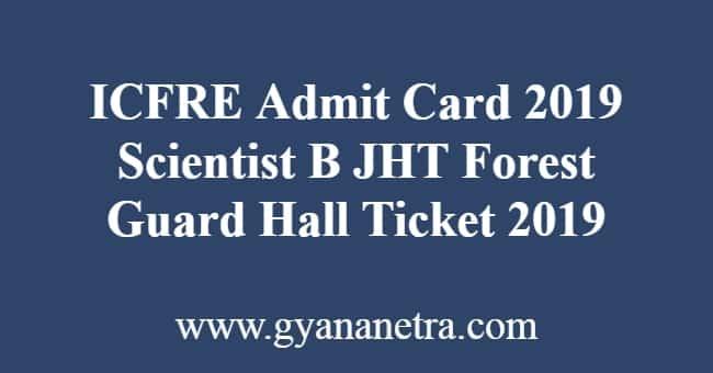 ICFRE Admit Card