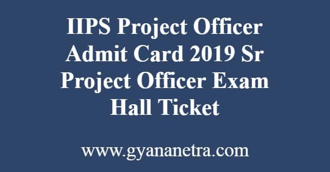 IIPS Project Officer Admit Card