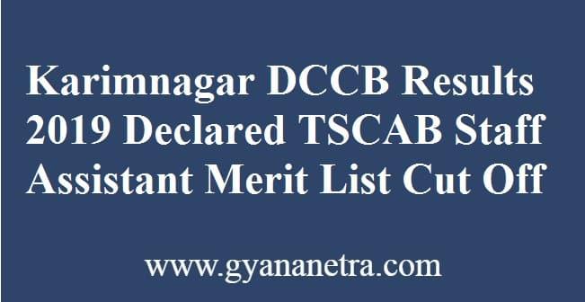 Karimnagar DCCB Results