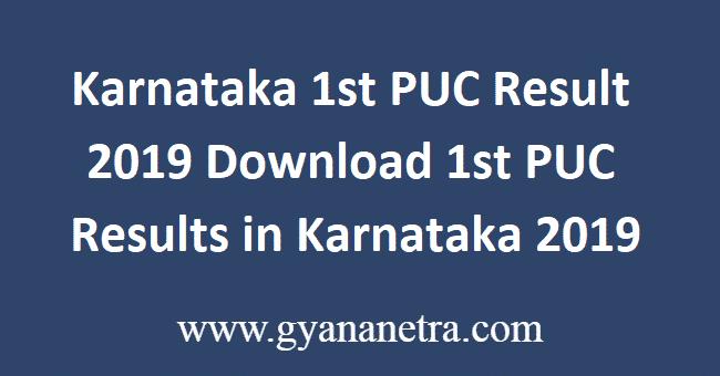 Karnataka-1st-PUC-Result-2019
