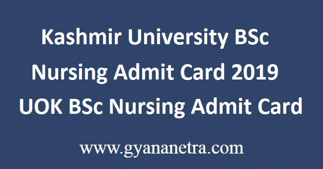 Kashmir-University-BSc-Nursing-Admit-Card