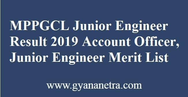 MPPGCL Junior Engineer Result