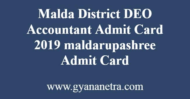 Malda District DEO Accountant Admit Card