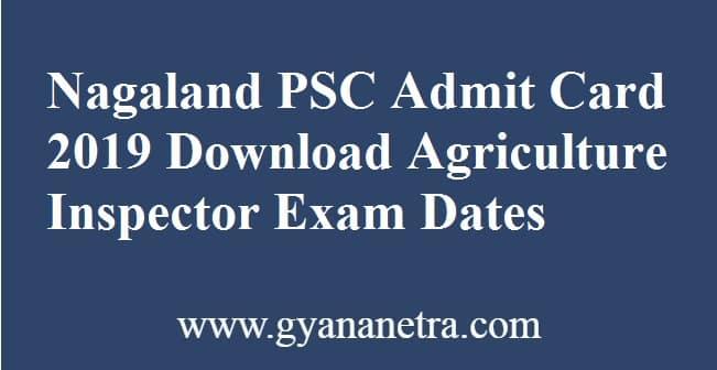 Nagaland PSC Admit Card