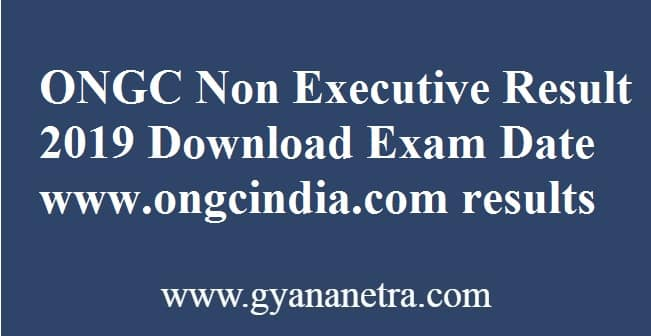 ONGC Non Executive Result