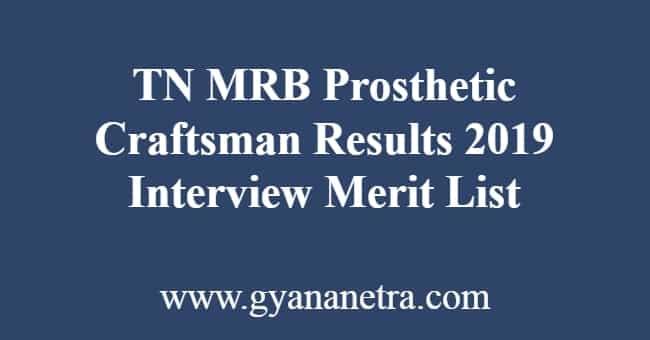 TN MRB Prosthetic Craftsman Results