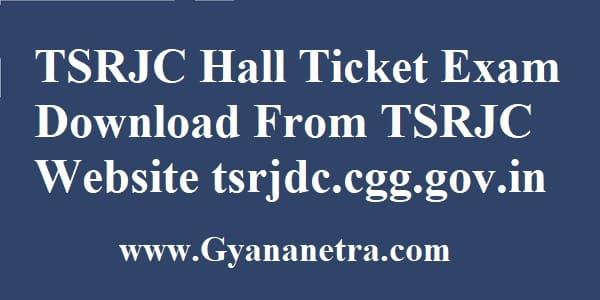 TSRJC Hall Ticket Download Online