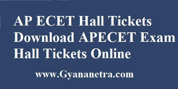 AP ECET Hall Tickets Download