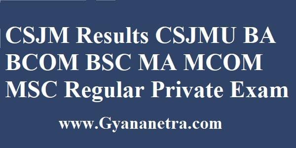 CSJM Results UG PG