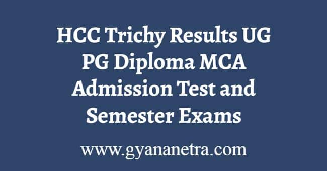 HCC Trichy Results Download