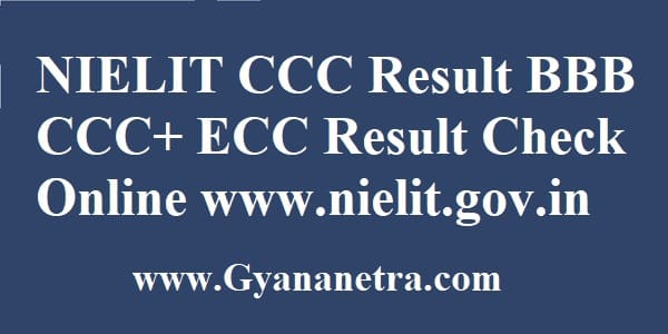 NIELIT CCC Result Check Online
