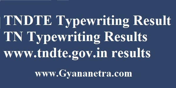 TNDTE Typewriting Results Check Online