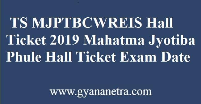 TS MJPTBCWREIS Hall Ticket