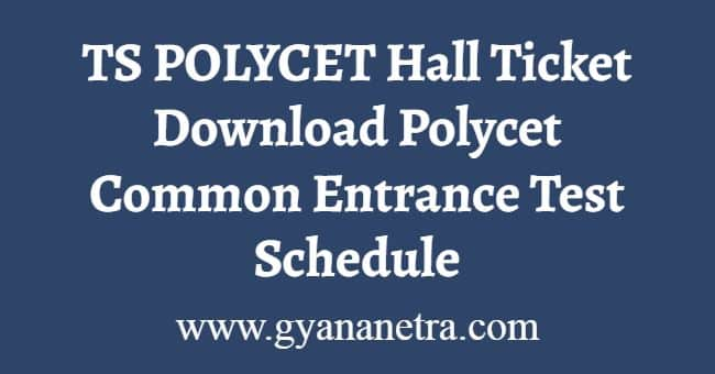 TS POLYCET Hall Ticket Download