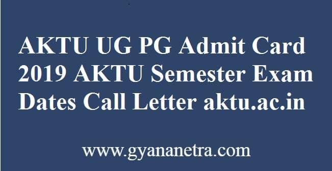 AKTU Admit Card