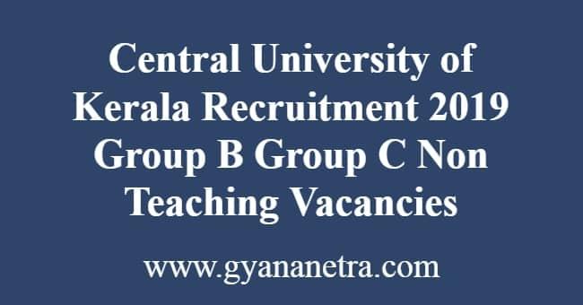 Central University of Kerala Recruitment