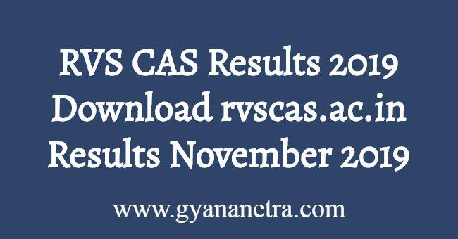 RVS CAS Results November 2019