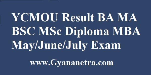 YCMOU Result Check