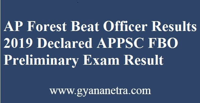 AP Forest Beat Officer Results