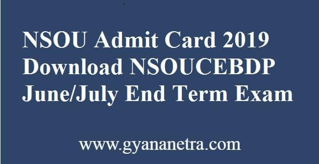 NSOU Admit Card