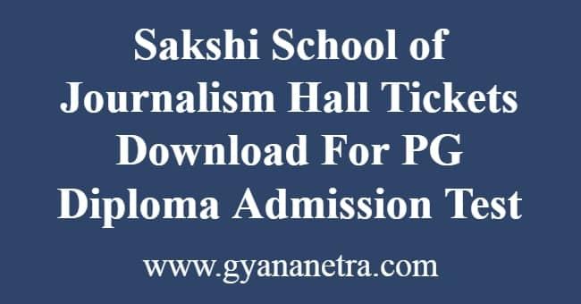 Sakshi School of Journalism Hall Tickets