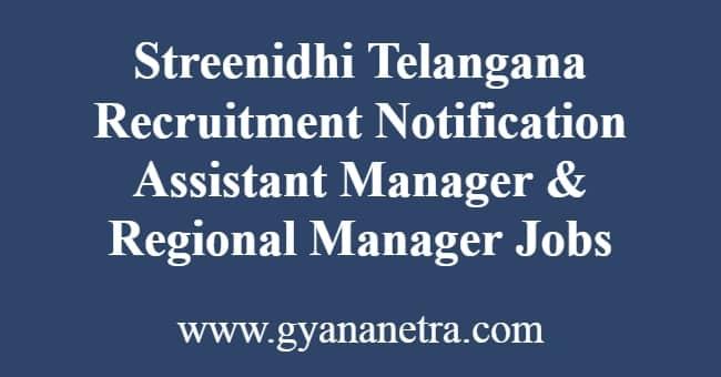 Streenidhi Telangana Recruitment Notification
