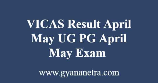 VICAS Result April May