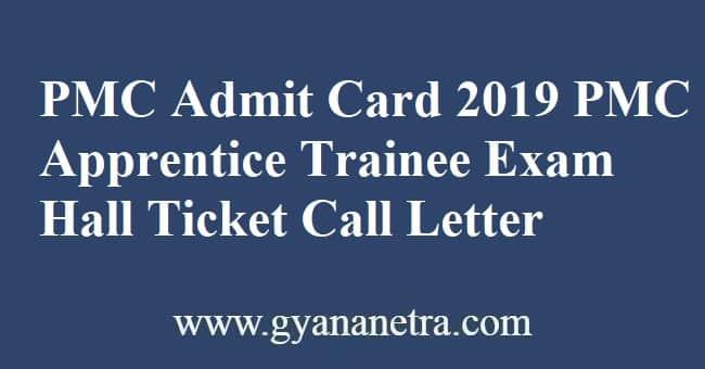 PMC Admit Card