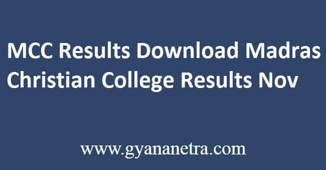 MCC Results