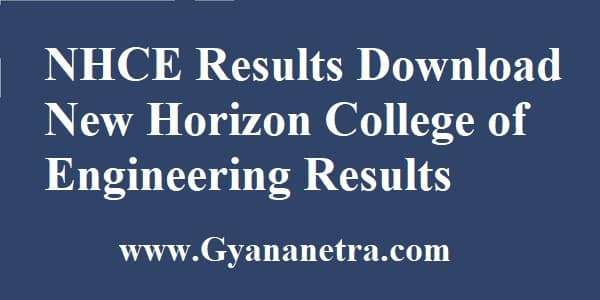 NHCE Results New Horizon College of Engineering