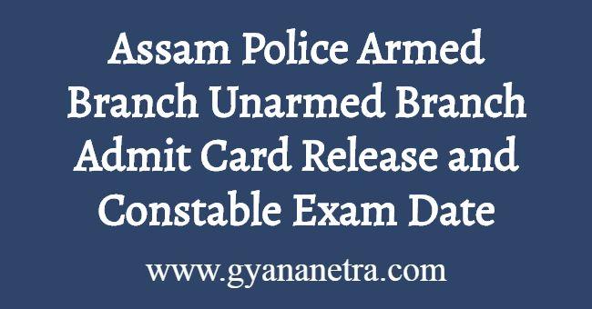 Assam Police AB UB Admit Card