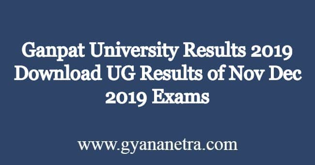 Ganpat-University-Results
