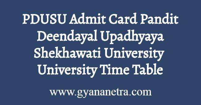 PDUSU Admit Card