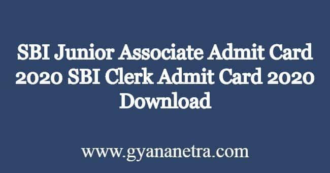 SBI-Junior-Associate-Admit-Card