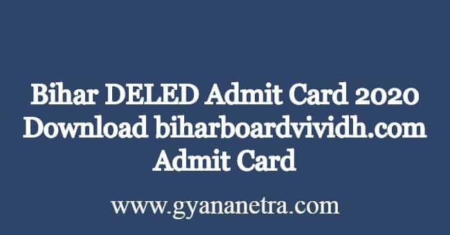 Bihar-DELED-Admit-Card