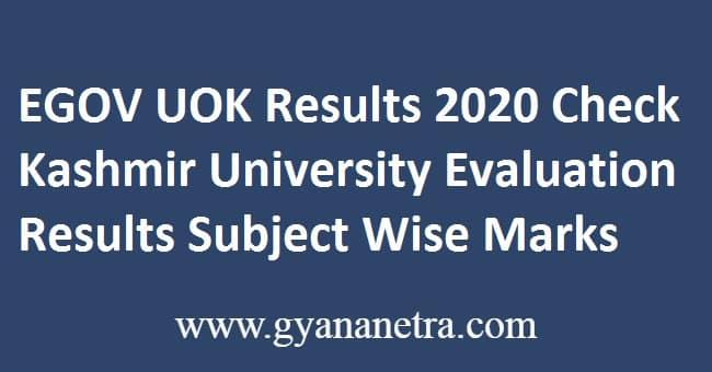 EGOV UOK Results