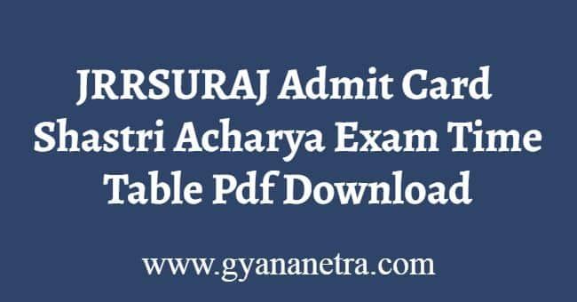JRRSURAJ Admit Card