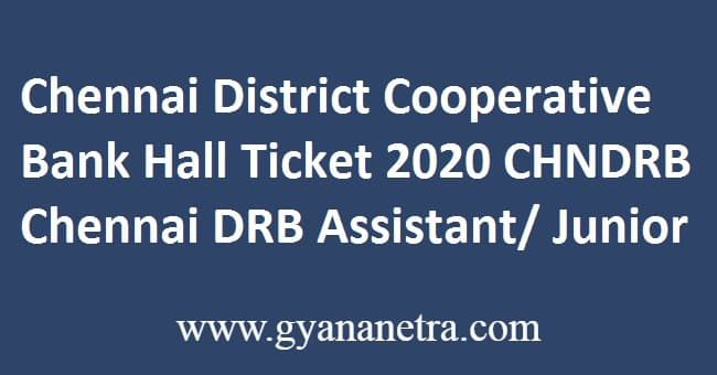 Chennai District Cooperative Bank Hall Ticket